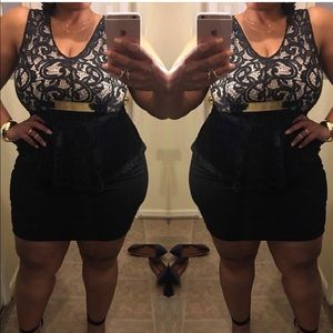 Dresses & Skirts - Black Lace Peplum Dress 👗